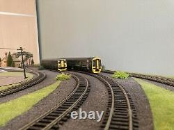00 gauge countryside model railway layout with GWR trains and hornby controller