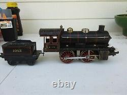 1910s BING STEAM ENGINE electric motor AND TENDER MODEL TRAIN 1 GAUGE
