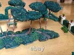 1930s Composition Model Train Garden Park Play Set SPAIN O / 1 Gauge Elastolin