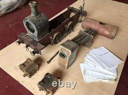 7 1/4 Gauge Model Live Steam Tank Engine Hercules Train Unfinished Project