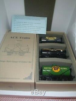 ACE Trains London O Gauge Tanker Set 8 x 3 Models NEW