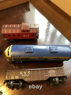 B & O Large Model Train Set Battery Oper. Tin Toy Standard Gauge Orig Box