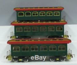 Classic Model Trains Standard Gauge Crescent Limited 3-Car Passenger Set EX