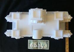 GoldRushBay O-Scale Miniature Victorian Train Station/Depot White O-Gauge Model