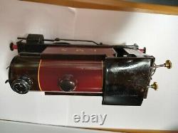 Hornby gauge 0 model trains. Boxed LMS 101 Tank loco & Brake van. 2 carriages