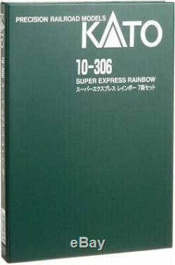 KATO 10-306 N gauge Super Express Rainbow 7-Car Set Model Train Passenger Car