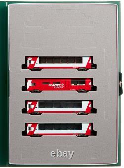 KATO N Gauge Alps' Glacier Express additional 4-Car Set Train Model Car Japan