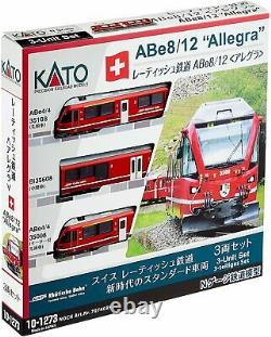 KATO N Gauge Retish Railway ABe8/12 Allegra 10-1273 Model Train