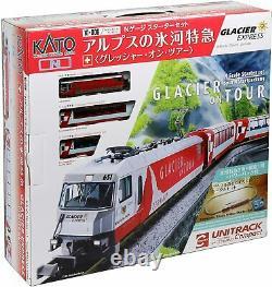 KATO N Gauge Starter Set 10-006 Alps Glacier Express glacier On Tour Model Train