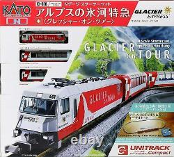 KATO N Gauge Starter Set Alps Glacier Express Glacier On Tour 10-006 Model Train