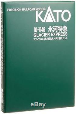 KATO N gauge 10-1146 Alps Glacier Express Add-On 4-Car Set Model Train WithT