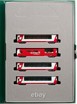 KATO N gauge 10-1146 Alps Glacier Express Add-On 4-Car Set Model Train WithT NEW