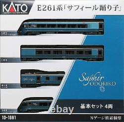 KATO N gauge 10-1661 E261 series 4-car Model train Safir dancer ODORIKO Japan