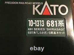 KATO N gauge 681 system Egret Basic 6-Car Set 10-1313 model railroad train