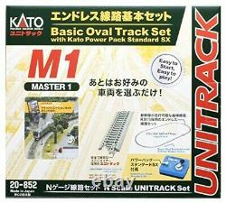 KATO N gauge endless railroad basic set master 1 20-852 model train rail set