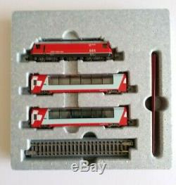 Kato N gauge 10-1145/1146 Glacier Express, Basic+Add on 7-Car Set, model train