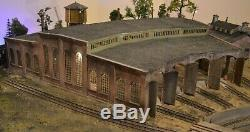 Korber Models 3 Stall Roundhouse Building Kit Accessory! O Gauge Scale Train