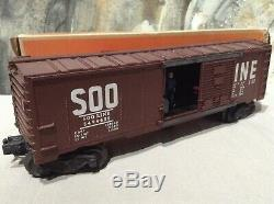 LIONEL Postwar SOO LINE 3494-625 Operating Box Car withBox O Gauge Model Train HTF