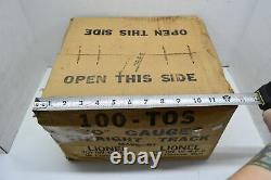 Lionel 100-TOS O Gauge Straight Track NOS Sealed In Original Box Model Train