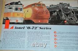 Lionel Prewar O Gauge Toy Model Train Standard Gauge 1940 Dealer Catalog