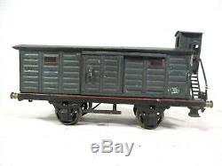 Marklin # 1989 1 Gauge Box Car Prewar Model Train with Light Vintage Railway B15