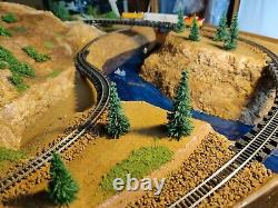 Model Train railroad set layout- N gauge-RIGHT SECTION (2 OF 2 SECTIONS)