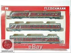 N 1160 Maßstab Triebwagen Lok Modelleisenbahn Fleischmann 741201 Br VT 12.5 DB