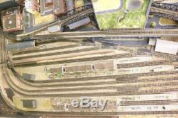 N GAUGE TRAIN MODEL RAILWAY LAYOUT Set in BIRMINGHAM 1.8X1m 4 LOOPS of TRACK pc