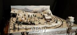 N Gauge Christmas Briefcase Layout With Train By Mountain Lake Model Railways