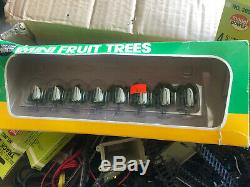 N Scale Gauge Model RR Railroad Train Track Sections Lot 250 Pieces Trees Power