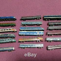 N gauge, Nishiki, Wood, Kato, etc. 18 sets of model trains Junk made in Japan