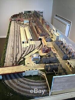 N gauge model railway layout 10feet by 3 half feet Long with trains and coaches