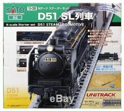 NEW KATO 10-032 N Gauge Starter Set D51 SL Train Model Train Set from Japan