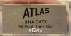 NEW Vintage ATLAS N Gauge Scale 3114 GATX 94' TANK CAR model train