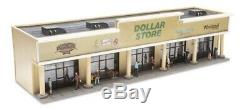 O Gauge Strip Mall Shopping Center For Model Trains Villages