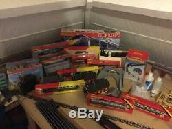 OO Gauge Project Model Railway Layout Including Tables, Spares and Trains