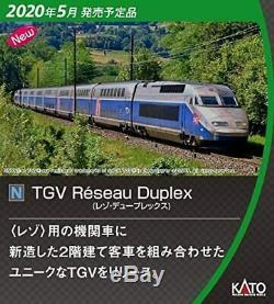Pre Ordar KATO N Gauge TGV Réseau Duplex 10 Car Set Model Train 10-1529