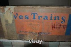 Prewar Ives Toy Train Model Empty Set Box Vintage Original O Gauge