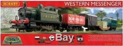 R1142 Hornby 00 Gauge Western Messenger Model Electric Train Starter Set Boxed