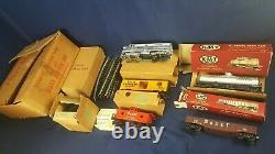 RARE Kusan Auburn KMT O Gauge Bexel Drug Model Train Set 1950s KF-1015 LN w Box