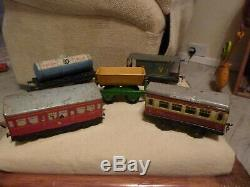 Rare hornby 0 gauge model railway loads of track, including trains and carriages