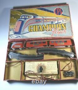 Streamlined Train Toy Die cast Metal Vintage H0 OO Gauge England Rare 1940's