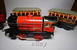 VINTAGE HORNBY 0 GAUGE MODEL No. M1 PASSENGER TRAIN SET + EXTRAS