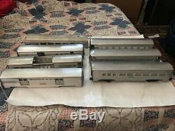 Vintage Lot Of 7 O- Gauge Aluminum Passenger Trains Santa Fe American Model
