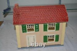 Vintage Schoenhut Model Train Building Gauge 3, Antique Schoenuht Doll House